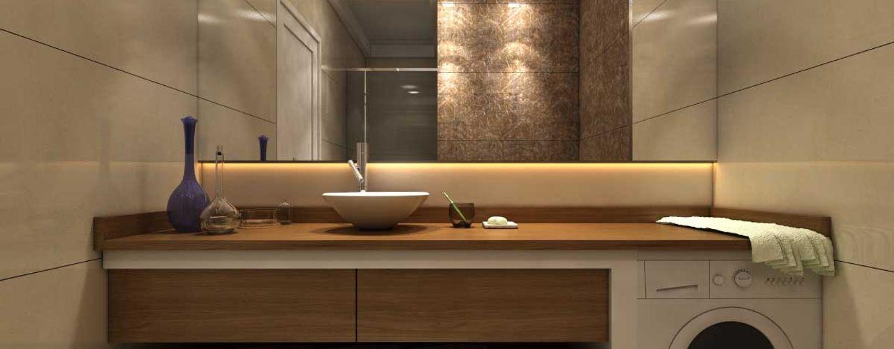 ANTE MİMARLIK 現代浴室設計點子、靈感&圖片