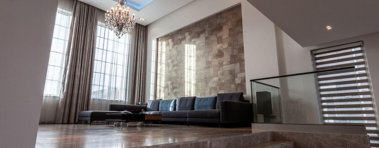 Vrijstaande villa Dineke Dijk Architecten Moderne woonkamers
