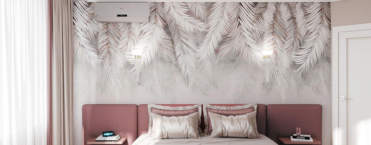 Нежная спальня с акцентами Елена Марченко (Киев) Спальня в эклектичном стиле