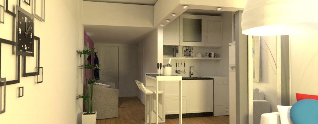 Arquimundo 3g - Diseño de Interiores - Ciudad de Buenos Aires Cocinas de estilo moderno