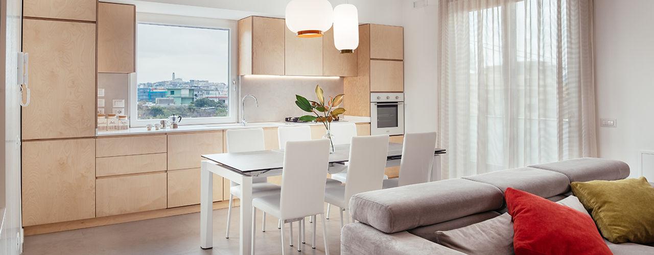 Casa RL manuarino architettura design comunicazione Cucina attrezzata Legno Effetto legno