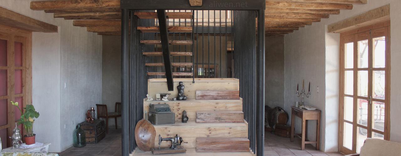 Reparación y Rehabilitación de Galpón en Toquihua por ALIWEN ALIWEN arquitectura & construcción sustentable - Santiago Escaleras