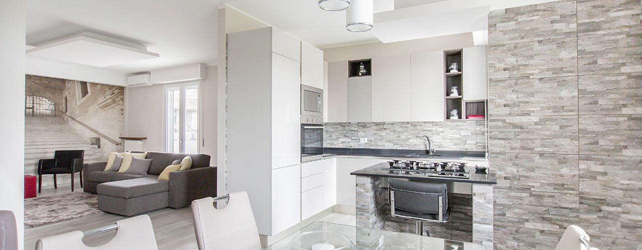 Ristrutturazione appartamento di 100 mq a Bariano, Bergamo Facile Ristrutturare Cucina moderna