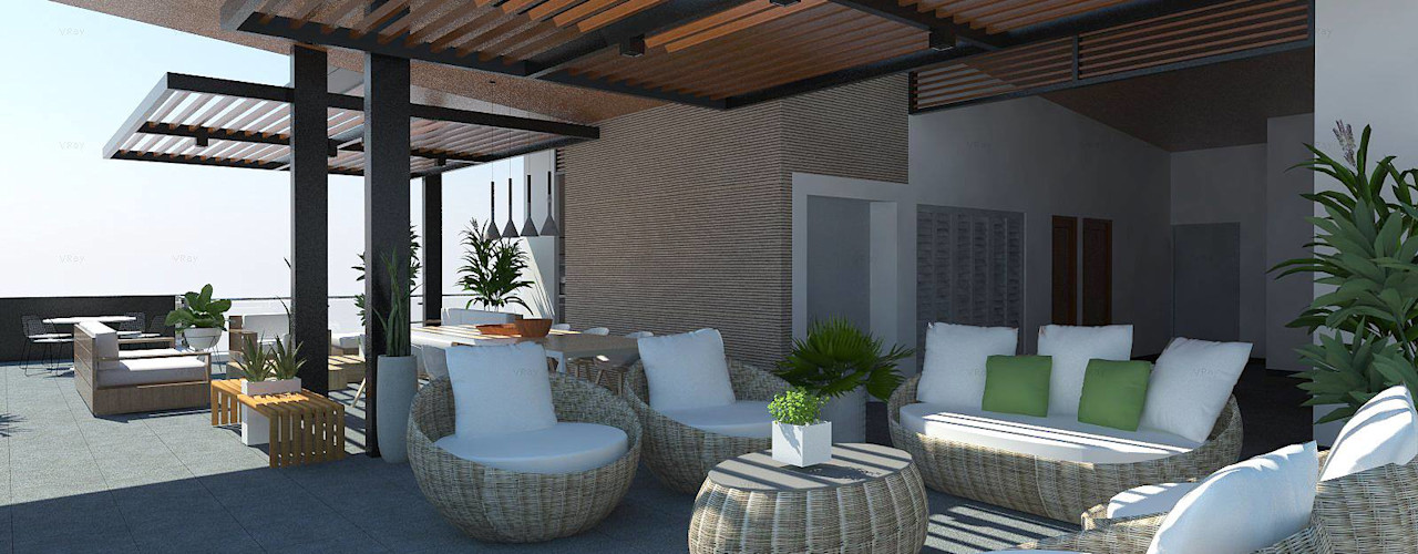 Structura Architects Balcony Wood effect