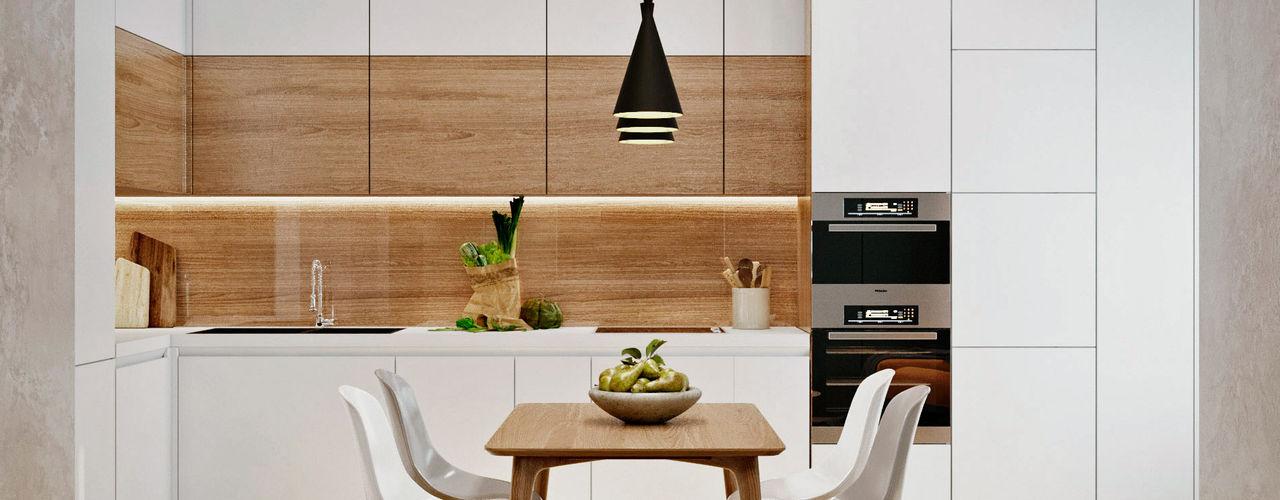 З двух в одну 'EDS' Exclusive Design Solutions Вбудовані кухні Білий