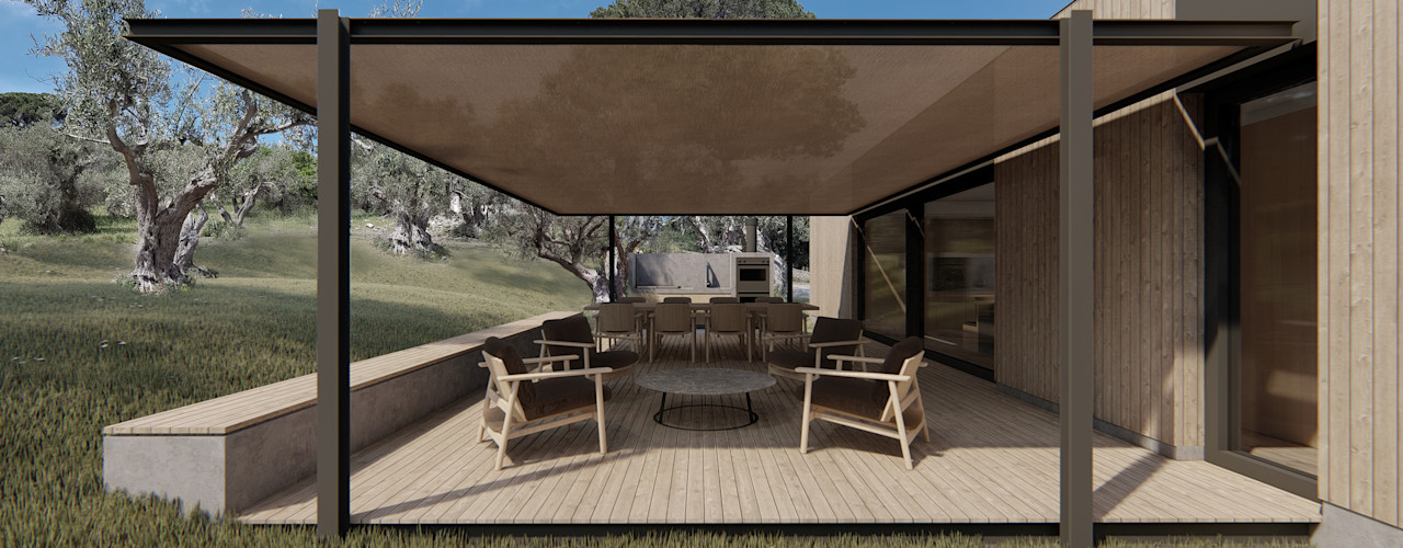 WOODEN HOUSE G|C – SICILY ALESSIO LO BELLO ARCHITETTO a Palermo Country house Iron/Steel