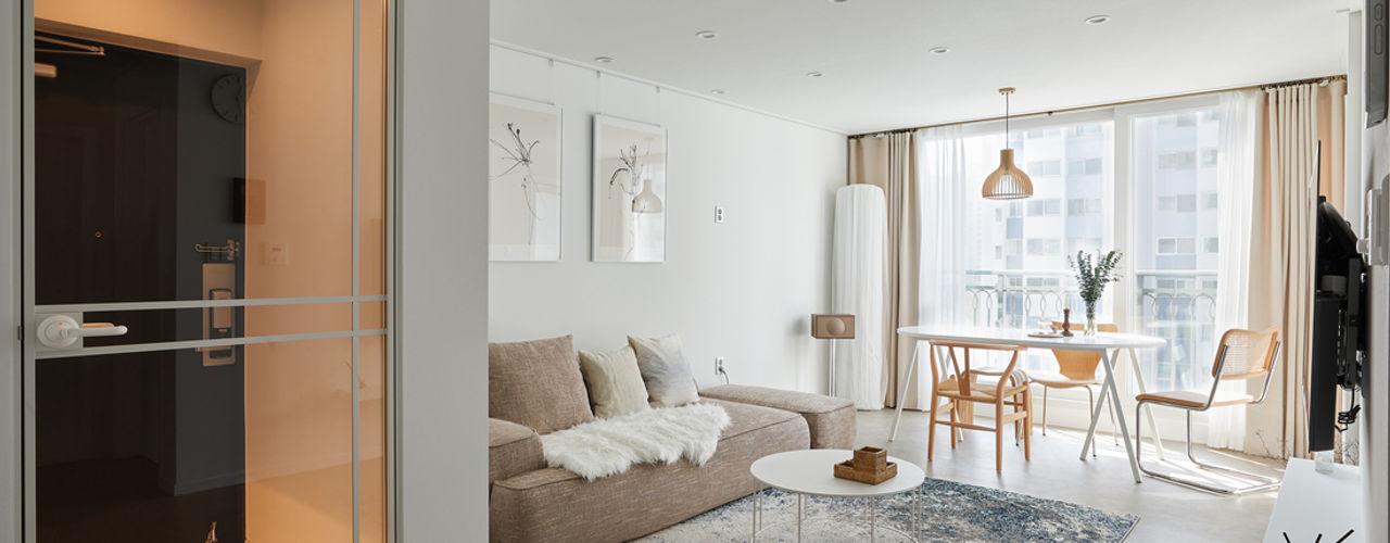 BK Design Studio Skandinavische Wohnzimmer