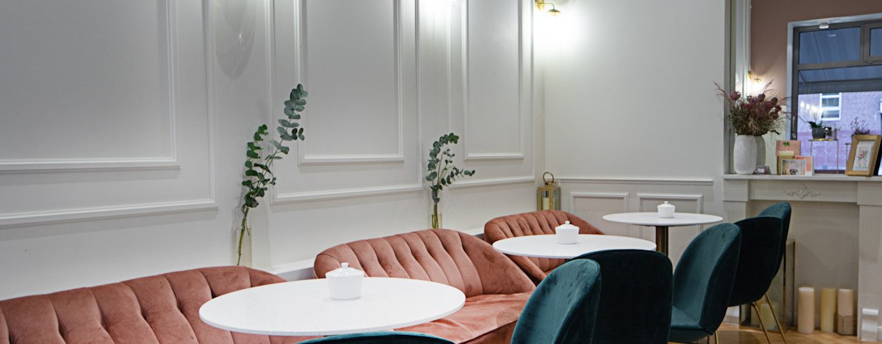 Ivy's Design - Interior Designer aus Berlin 餐廳 複合木地板 Pink