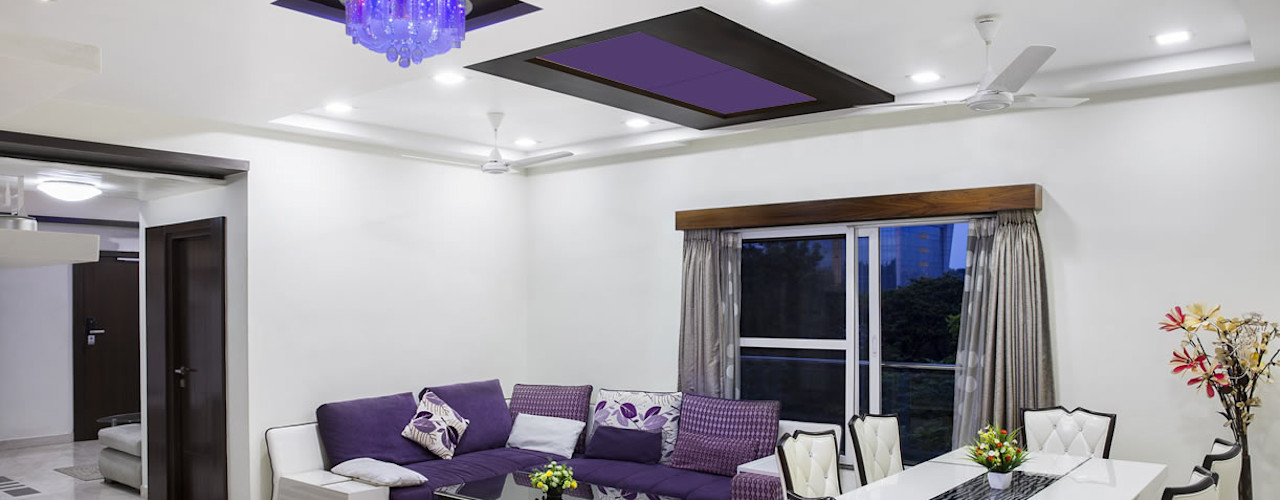 Heat Art - infrarood verwarming Living room Glass Purple/Violet