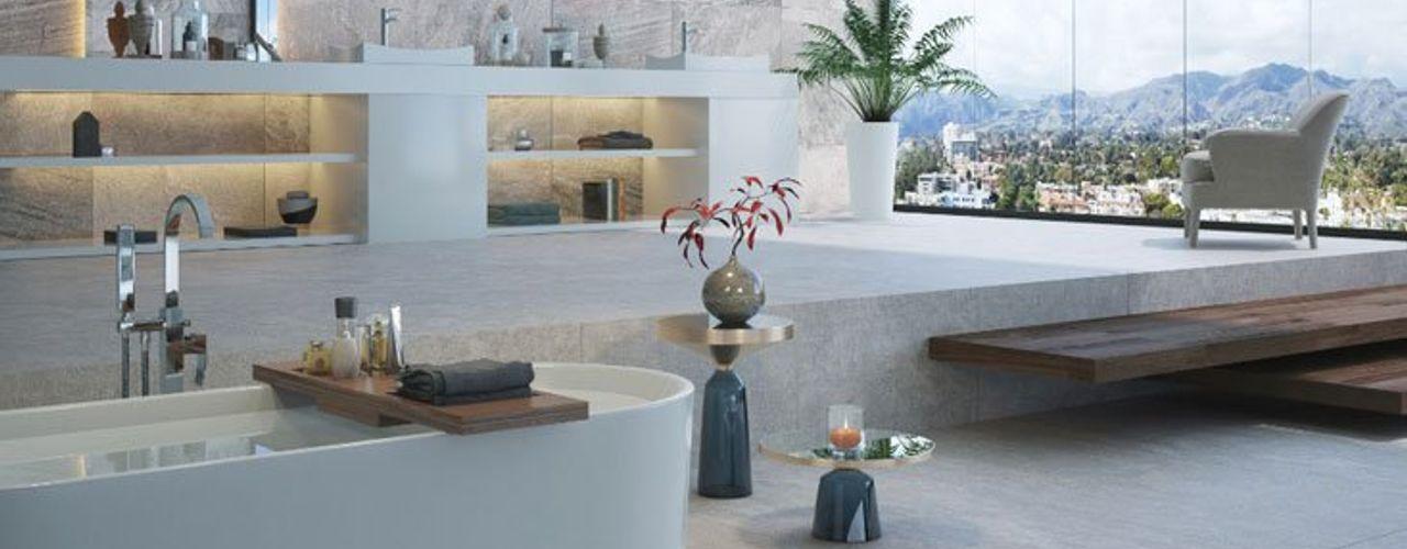 Spa en casa Interceramic MX Baños modernos Cerámico Gris