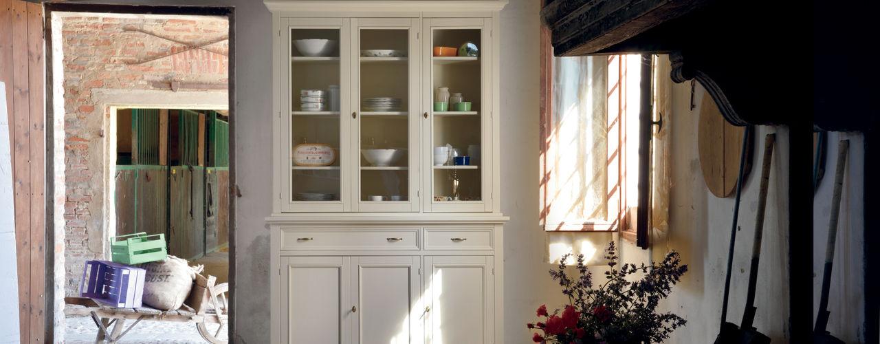 Casa Shabby Chic Idea Stile Sala da pranzo in stile scandinavo Legno massello Bianco