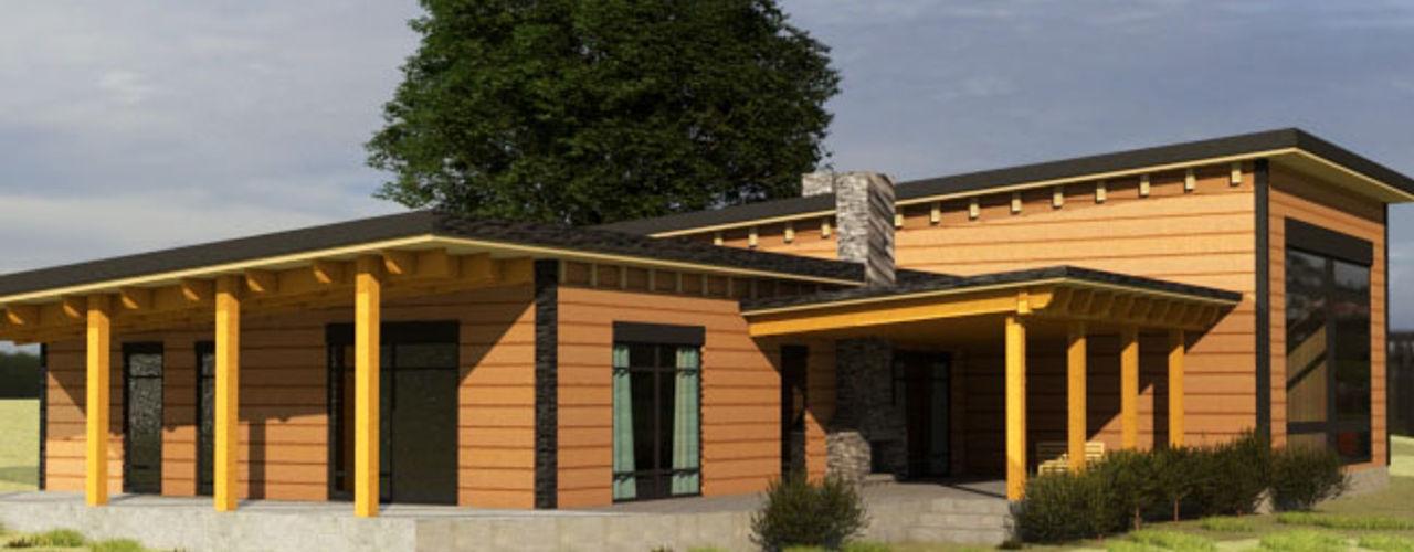 Diseño Cabaña de madera CEC Espinoza y Canales LTDA Casas de madera