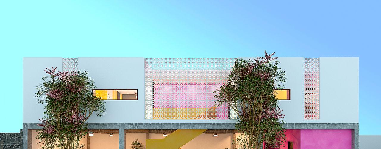 Laboratorio Mexicano de Arquitectura Multi-Family house Concrete White