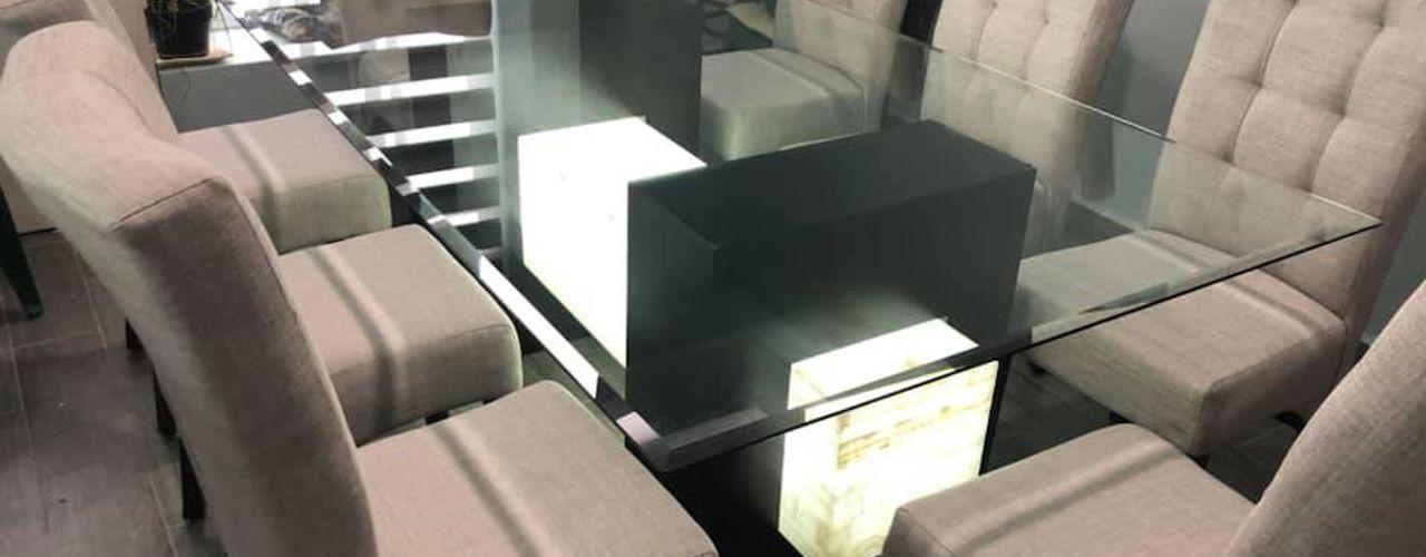 Fabrica y comercializadora de muebles en el Estado de México / Salas, Sofas, Comedores, Sillones ALVETA DESIGN ComedorMesas Piedra Acabado en madera