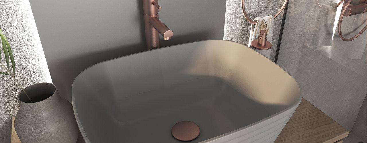 O Mate que adiciona brilho à sua casa Smile Bath S.A. Casas de banho modernas Cerâmica Cinzento