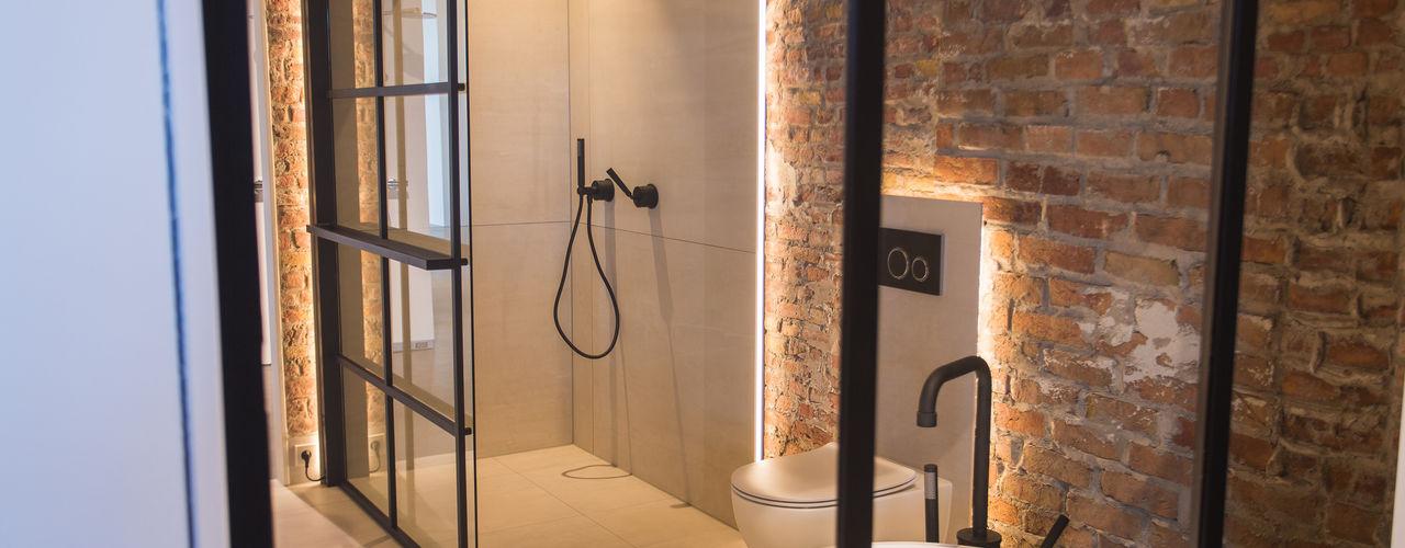 Industrieel badkamer interieur De Eerste Kamer Industriële badkamers Metaal Zwart