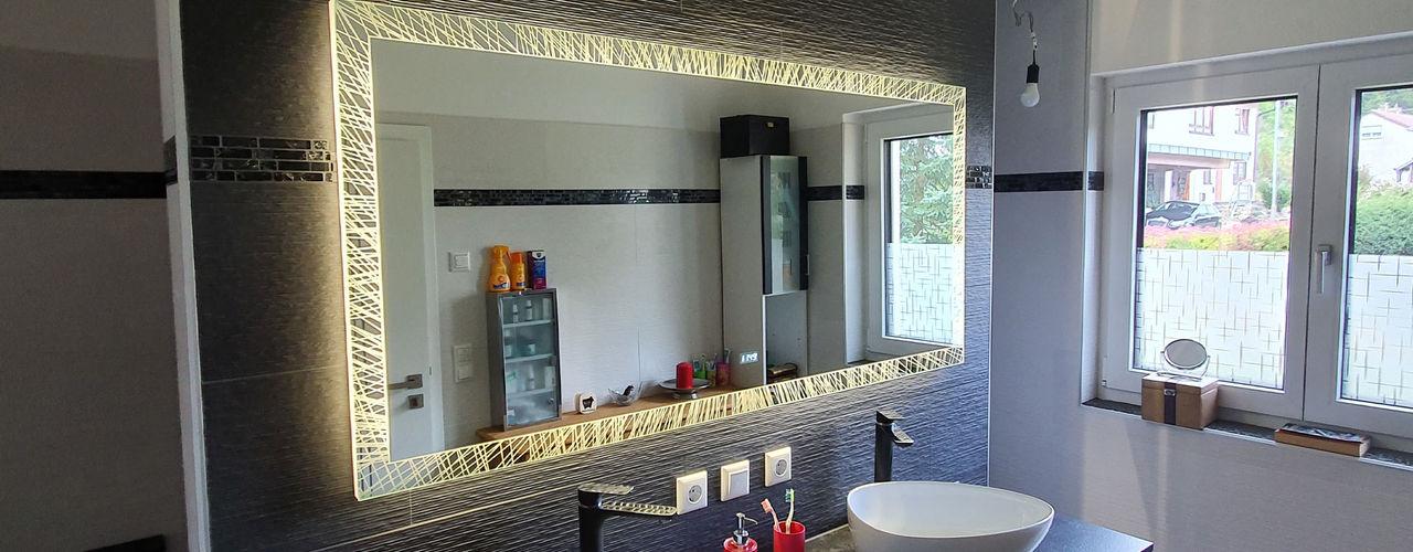 Laser LED Badspiegel Badspiegel Moderne Badezimmer