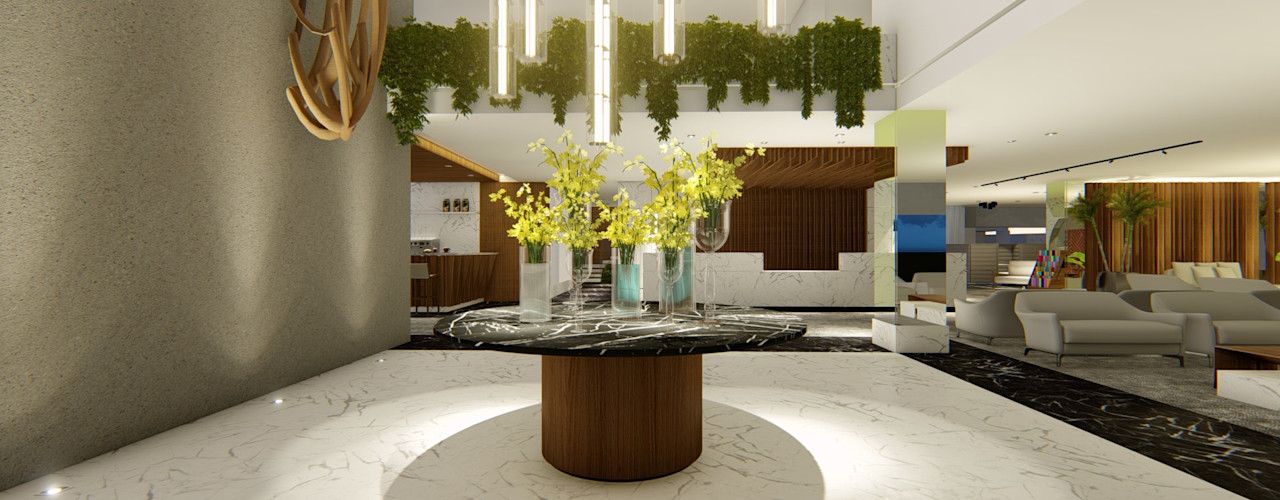 HOTEL URBANO | Maputo - Moçambique | África Arquitetura Sônia Beltrão & associados Hotéis modernos Concreto Branco