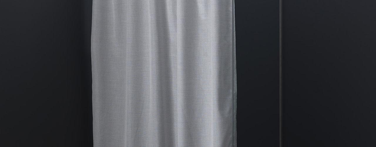 Tende doccia in cotone idrorepellente AISI Design srl Bagno moderno Ferro / Acciaio Grigio