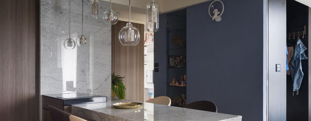 我愛莫蘭迪 向喆空間創意 现代客厅設計點子、靈感 & 圖片 合板