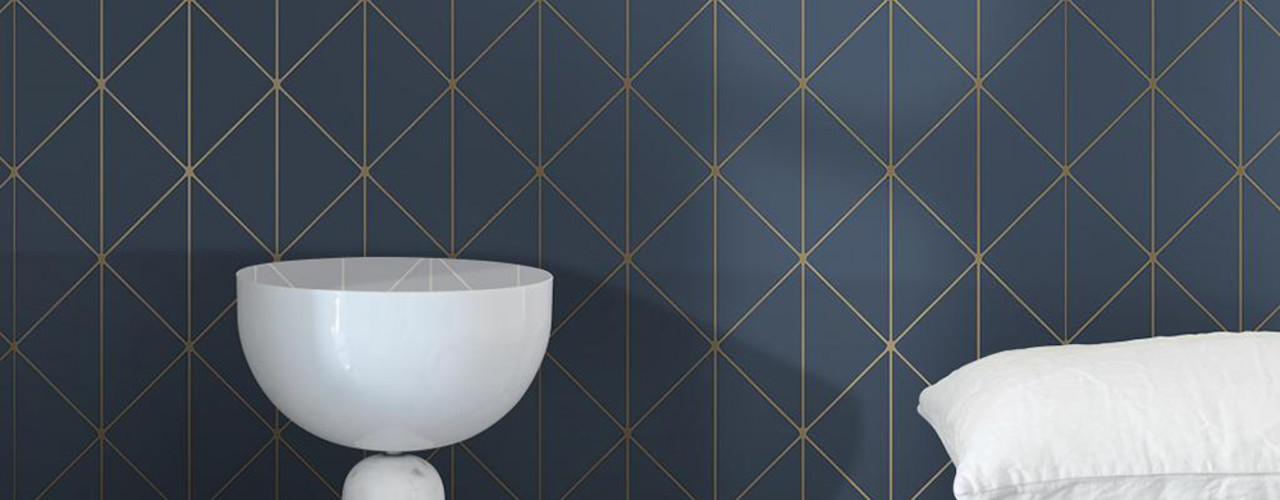 Tapetenkollektion GRAPHIC WORLD Tapeten & Uhren Minimalistische Wände & Böden Blau