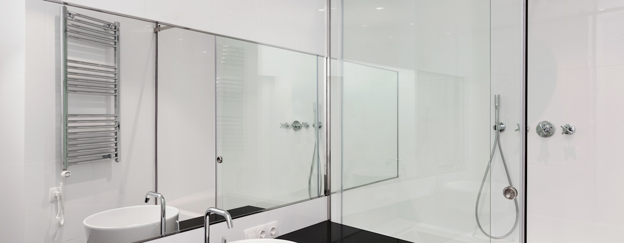 Cancel de baño HERRALUM COZUMEL Técnica y edificación Baños minimalistas Vidrio Transparente