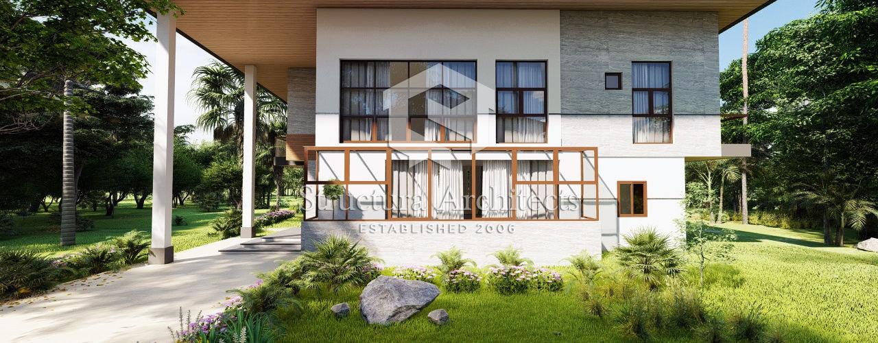 Structura Architects Villas Quartz White
