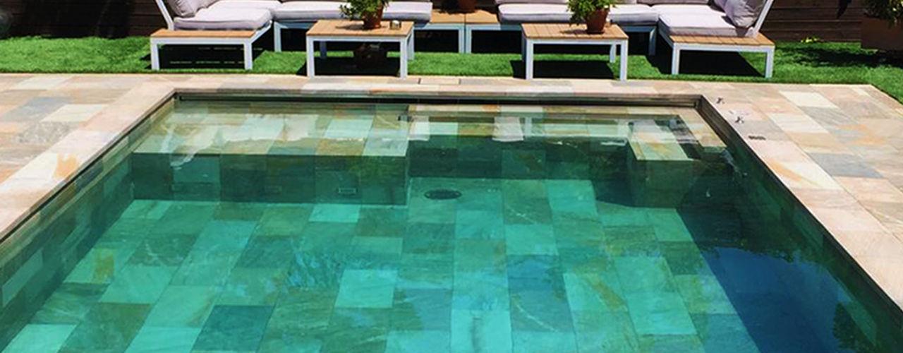 ¿De qué color se verá el agua de mi piscina? ROSA GRES Multicolor