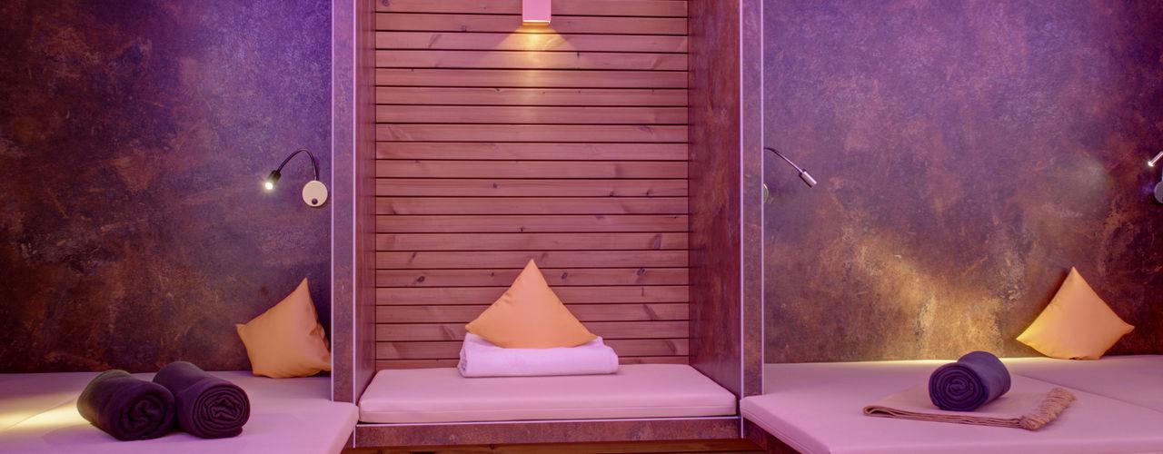 Lichtplanung für den Spa und Wellnessbereich Hotel Eibl Brunner LICHT.RAUM.TECHNIK Moderne Hotels Lila/Violett