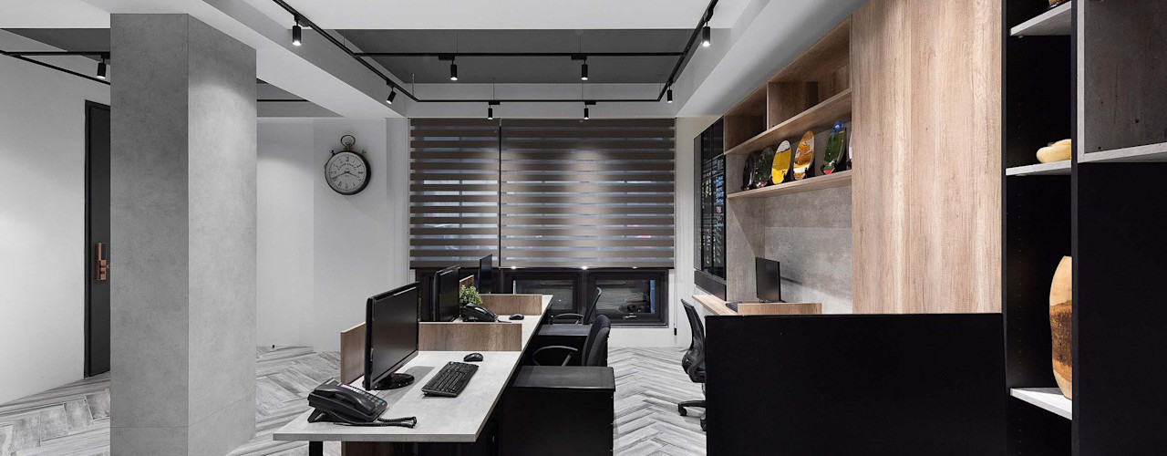 淬鍊 - 1樓 禾廊室內設計 書房/辦公室