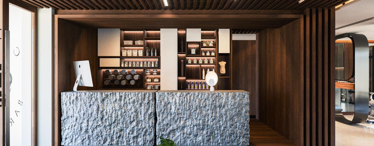 Crown Barber Shop Diamante Arquitectura Pasillos, vestíbulos y escaleras mediterráneos