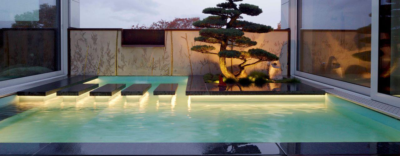 Interieursalon GmbH Giardino Zen Legno Turchese
