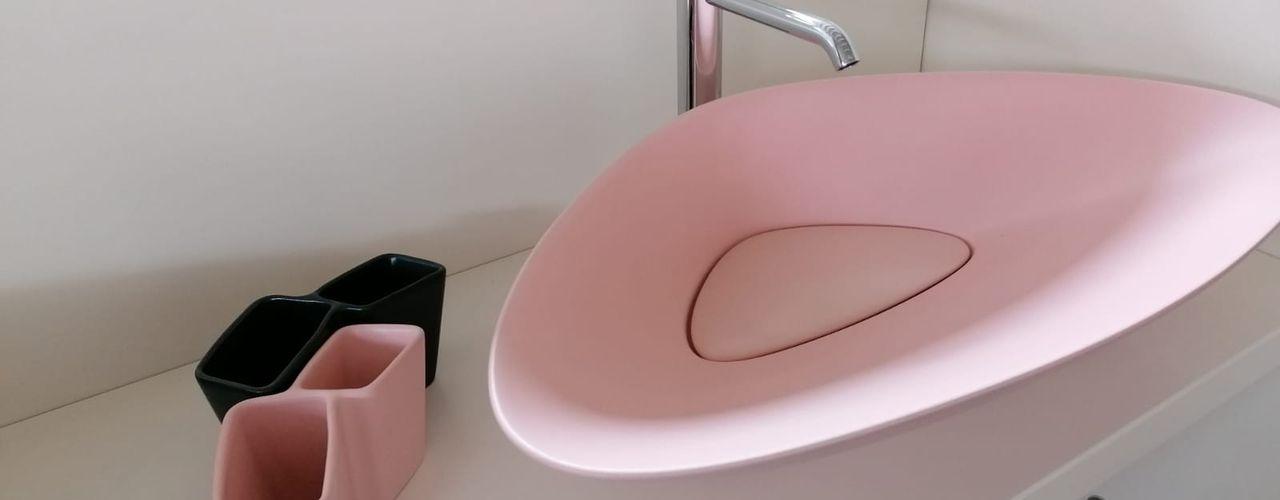 BLAT lavabo da appoggio moderno in ceramica eto' Bagno moderno Ceramica Rosa