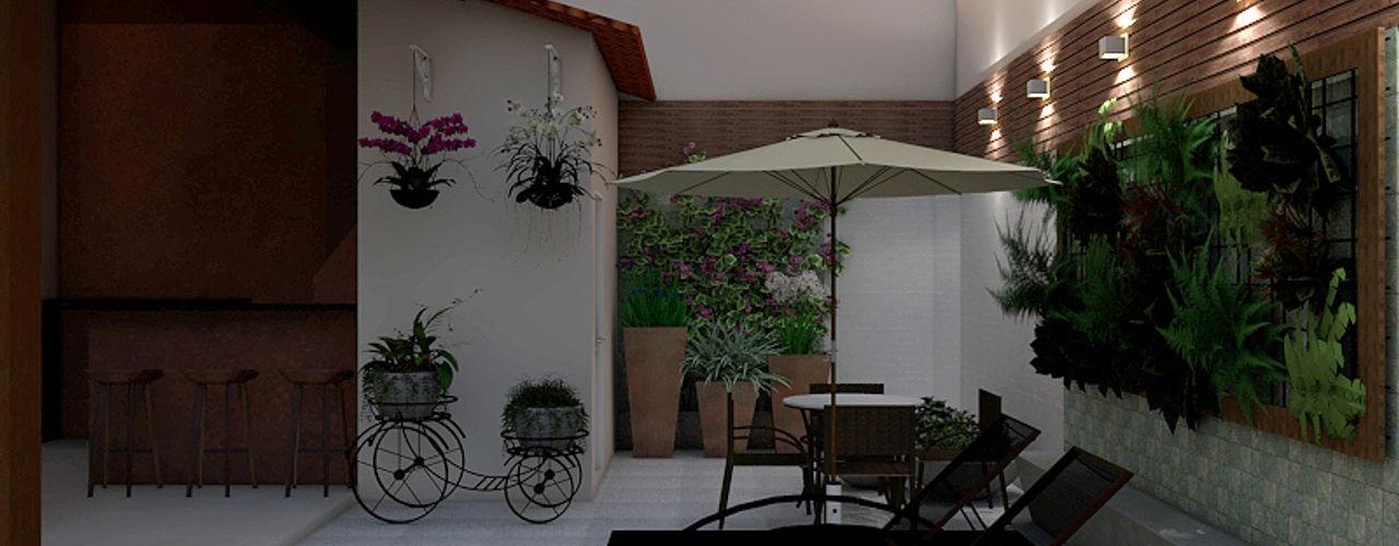 Projeto Exteriores e Paisagismo Interior SCK Arquitetos Casas modernas