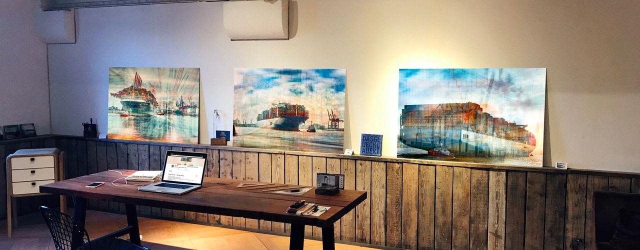 harbourlights - in der Ausstellung ArtSelbach Moderne Arbeitszimmer Aluminium/Zink Mehrfarbig