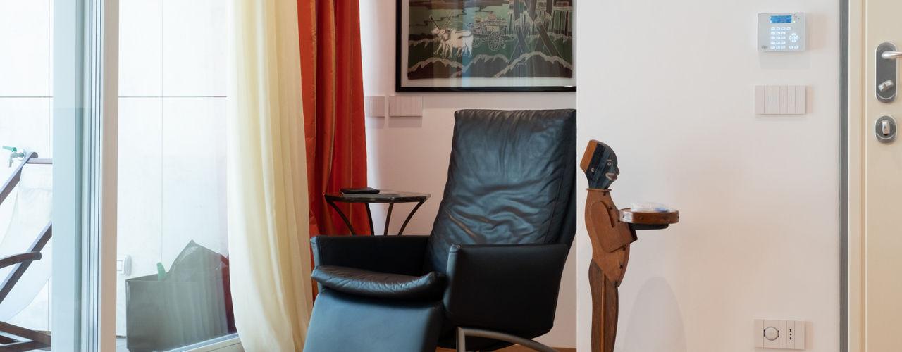 GZ Nuovo appartamento 120 mq Filippo Zuliani Architetto Ingresso, Corridoio & Scale in stile moderno Legno Bianco