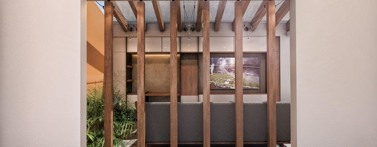 G._ALARQ + TAGA Arquitectos モダンデザインの リビング