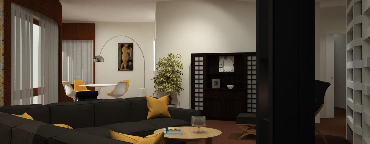 ibedi laboratorio di architettura Modern living room Wood Black