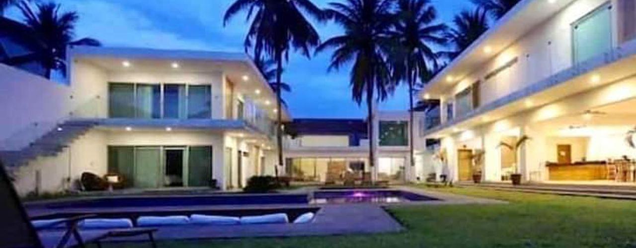 Casa L. Struo arquitectura Casas unifamiliares Concreto Blanco