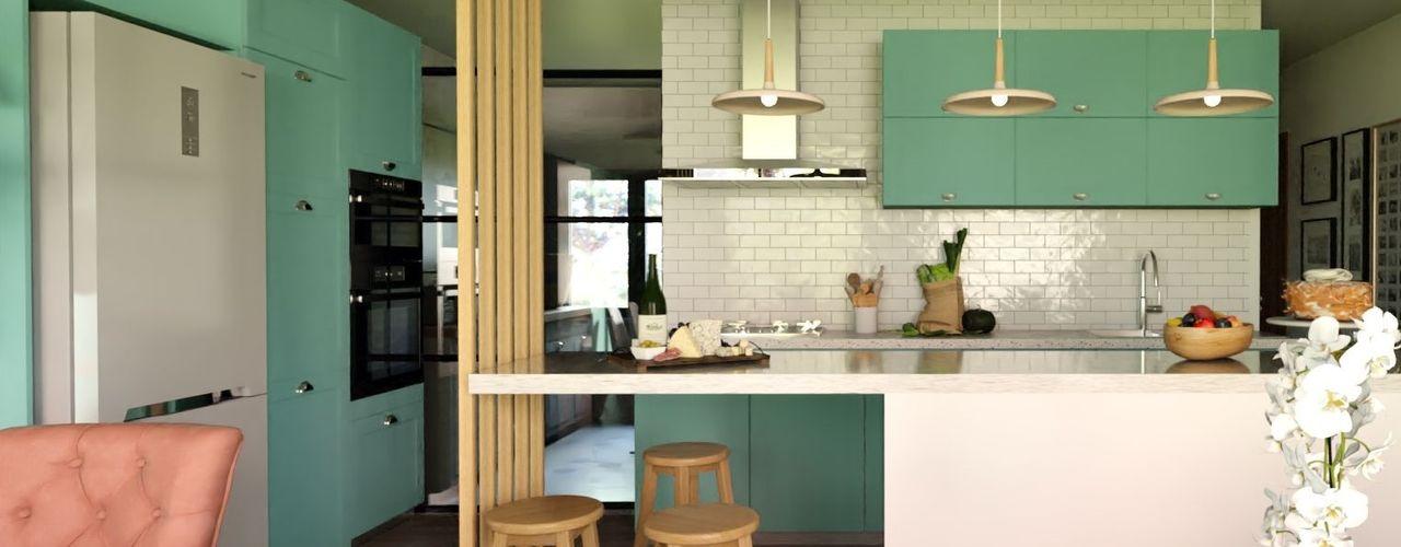 Proyecto - Vallenar Gabi's Home Muebles de cocinas Turquesa