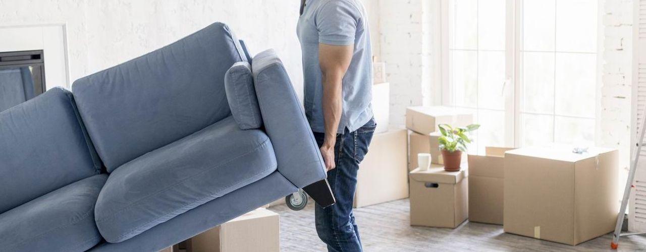 Déménagement express : combien coûte un garde meuble ? press profile homify Salon moderne