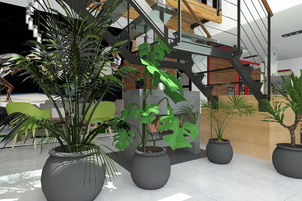 Dom _Passive_South: styl , w kategorii Ogród zimowy zaprojektowany przez ABC Pracownia Projektowa Bożena Nosiła