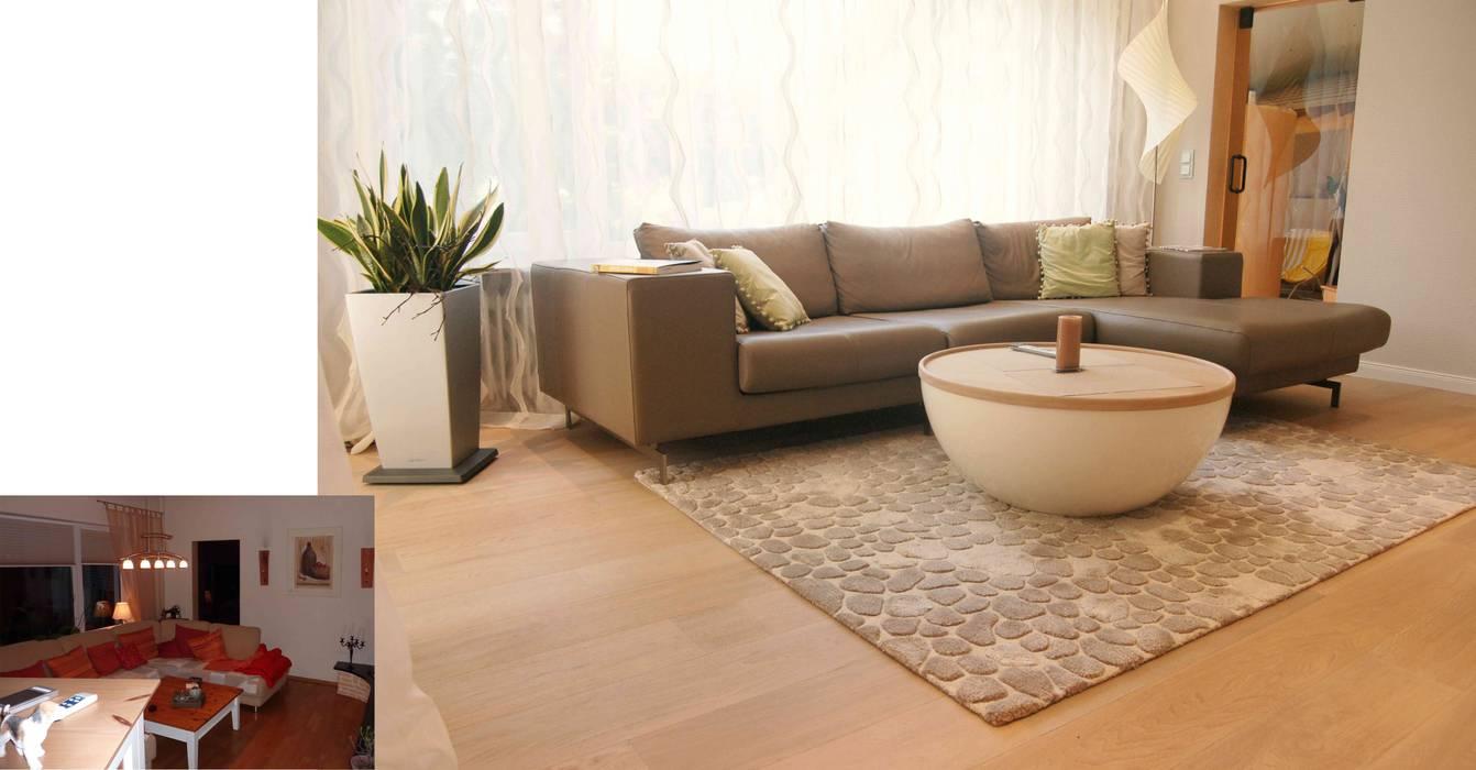 Neues Wohn/Ess/Musikzimmer in Wiesbaden Moderne Wohnzimmer von Einrichtungsideen Modern