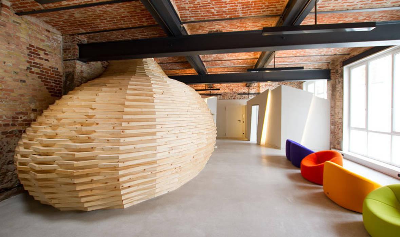 Loft Wedding // Wohnzimmer und Gästezimmer Industriale Wohnzimmer von designyougo - architects and designers Industrial Holz Holznachbildung