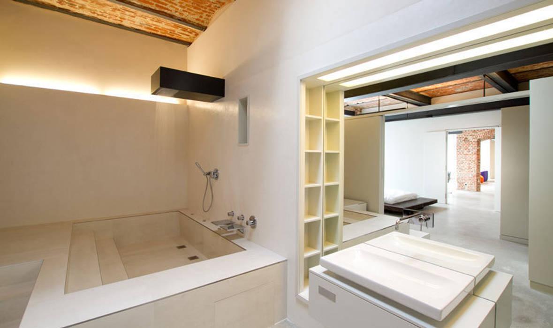 Loft Wedding // Badezimmer Industriale Badezimmer von designyougo - architects and designers Industrial Ziegel