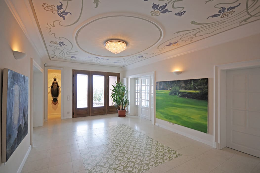 Foyergestaltung Klassischer Flur, Diele & Treppenhaus von Wandmalerei & Oberflächenveredelungen Klassisch