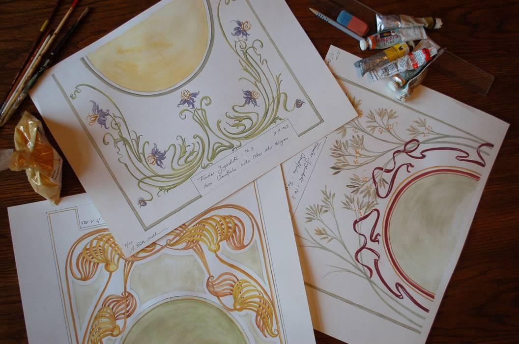 Foyergestaltung von Wandmalerei & Oberflächenveredelungen Klassisch
