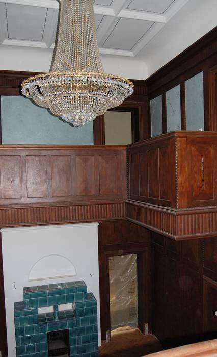 Foyergestaltung- Stoffimitation Klassischer Flur, Diele & Treppenhaus von Wandmalerei & Oberflächenveredelungen Klassisch