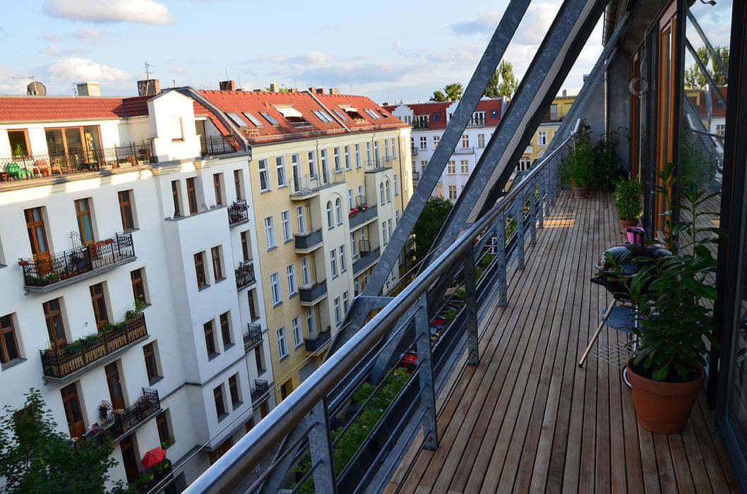Teak Terrasse BioMaderas GmbH Balkon, Veranda & Terrasse