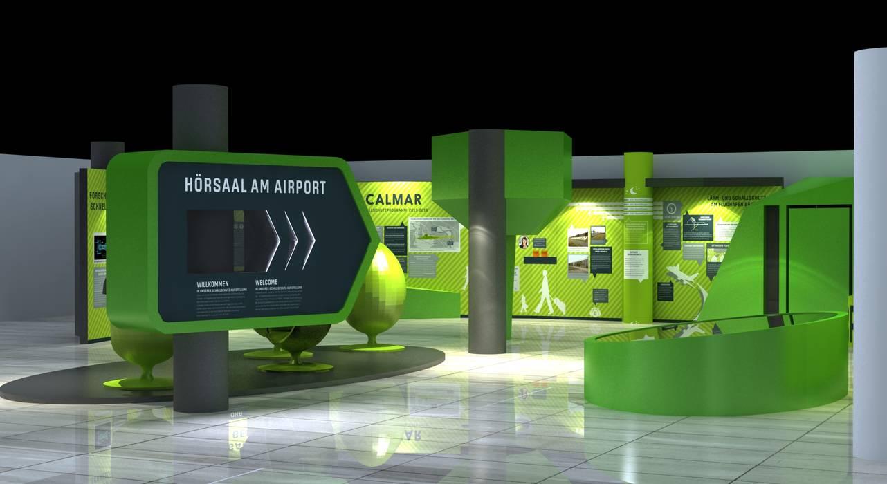 Visualisierung des Vorhabens 1 Moderne Flughäfen von Hellmers P2 | Architektur & Projekte Modern